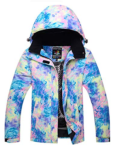 APTRO Women's Mountain Ski Jacket Waterproof Windproof Snowboard Coat Rain Jacket (Blue, L)