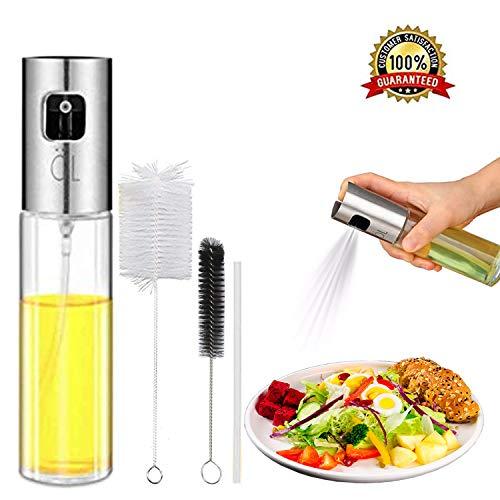 Oil Spritzer Mister for Air Fryer Olive Oil Sprayer Cooking Bottle for Vinegar Canola Vegetable Oil Portable Mini Kitchen Gadgets for BBQ/Pan/Salads/Baking