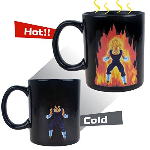 BeneU Dragon Ball Z Color Changing Coffee Mug Heat Reactive Mug (Vegeta)