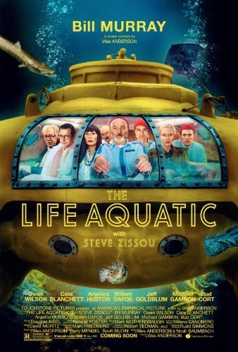 (27x40) The Life Aquatic with Steve Zissou Bill Murray Submarine Movie Poster