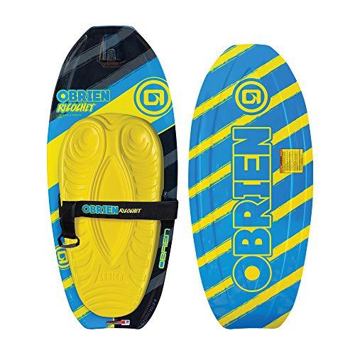 O'Brien Ricochet Kneeboard w/Handle Hook, Yellow, One Size (2191204)