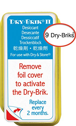 Dry-Brik II Desiccant Blocks - 9 Blocks (3 Packs of 3 Blocks)| Replacement Moisture Absorbing Block for the Global II and Zephyr by Dry & Store | Hearing Device Dehumidifiers