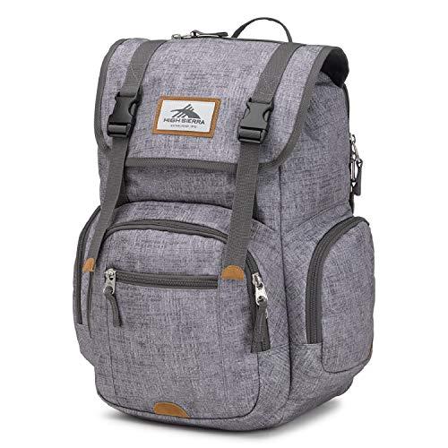 High Sierra Emmett 2 Backpack, Woolly Weave/Slate/Lime, One Size