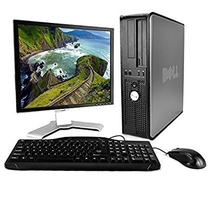 Dell OptiPlex Desktop Complete Computer Package with Windows 10 Home - Keyboard, Mouse, 17' LCD Monitor(brands may vary) (Renewed)