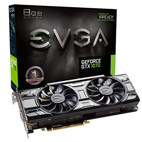 EVGA GeForce GTX 1070 GAMING, 8GB GDDR5, DX12 OSD Support (PXOC) Graphics Card 08G-P4-5170-KR (Renewed)