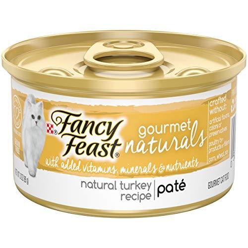 Purina Fancy Feast Natural Pate Wet Cat Food, Gourmet Naturals Natural Turkey Recipe - (12) 3 oz. Cans