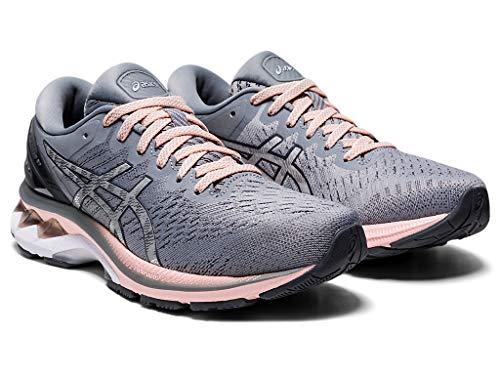 ASICS Women's Gel-Kayano 27 (D) Running Shoes, 10W, Sheet Rock/Pure Silver