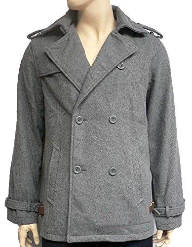 OEM Edward Cullen Pea Coat Twilight Jacket Costume + Free Wristcuff Gift (M) Gray