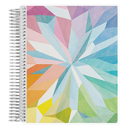 Erin Condren Coiled Notebook (Dot Grid Layout) - Kaleidoscope Colorful Designer Interchangeable Cover, Dot Grid Paper (5mm Standard) Measures 8.5' x 11', Boost Productivity, Durable, Pretty, Cute