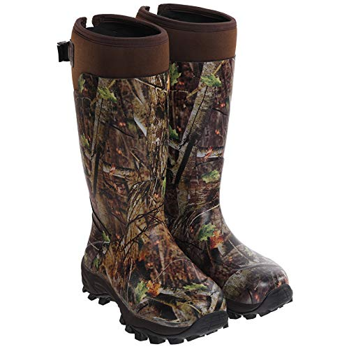 Hisea Hunting Boots for Men Waterproof Insulated Rubber Boots Rain Boots Neoprene Mens Boots Camo