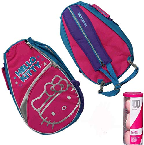 Stonebridge Mall Hello Kitty Go! Tennis Backpack Bundle - Includes 3 Pink Tennis Balls