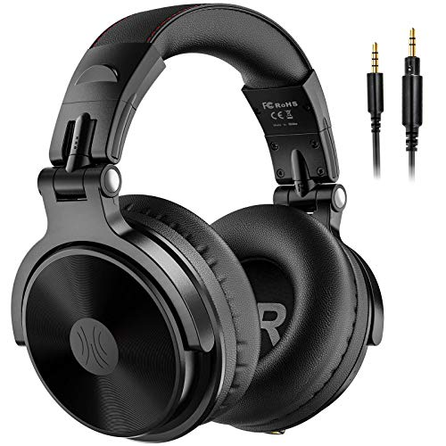 OneOdio Bluetooth Over Ear Headphones - Wireless/Wired 80 Hrs Stereo Bluetooth Headsets Foldable Headset with Deep Bass 50mm Neodymium Drivers for PC/Phone - Studio Wireless(Y80B)