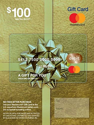 $100 Mastercard Gift Card (plus $5.95 Purchase Fee)