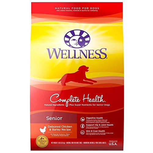 Wellness Natural Pet Food Complete Health Natural Dry Senior Dog Food, Chicken & Barley, 30-Pound Bag