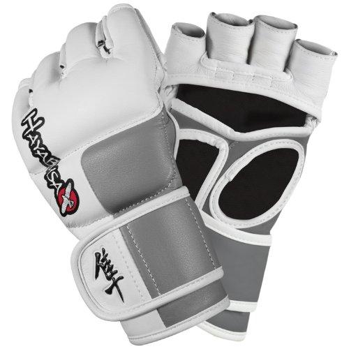 Hayabusa Tokushu 4oz Pro Style MMA Gloves - White/Slate Grey, X-Large