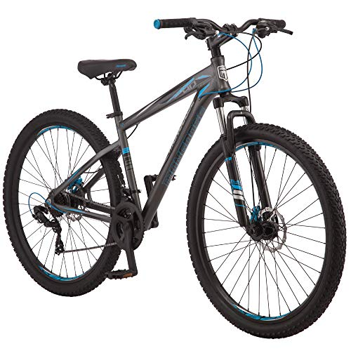 Mongoose Impasse HD Mens Mountain Bike, 29-Inch Wheels, Aluminum Frame, Twist Shifters, 21-Speed Rear Deraileur, Front and Rear Disc Brakes, Charcoal
