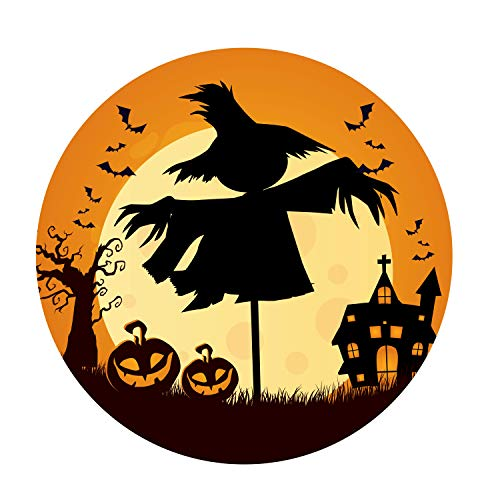 Halloween Magnetic Decal, Scarecrow Themed Garage Door Halloween Decoration, Bumper Sticker for Car, Locker, Fridge, 5 1/2 Inch