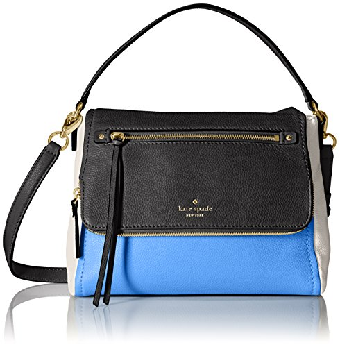 kate spade new york Cobble Hill Small Toddy Shoulder Bag, Alice Blue/Black/Cement, One Size