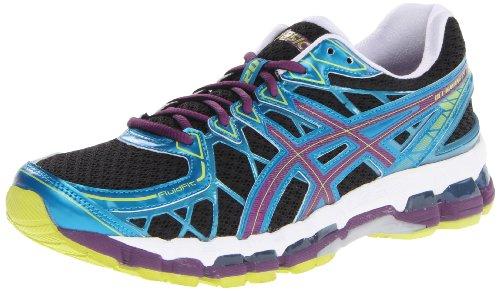 ASICS Women's Gel Kayano 20 Running Shoe,Black/Plum/Blue,6 M US