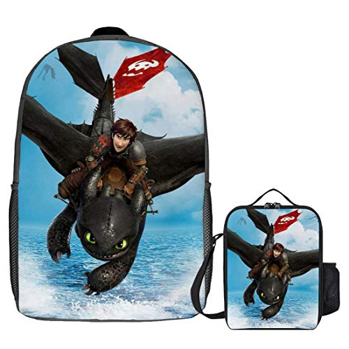 How to Train Your Dragon Backpack Boys and Girls Protagonist Cosplay Polyester Waterproof Backpack Style