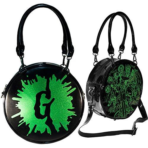 Kreepsville Goosebumps G Splat Glitter Purse Bag Black