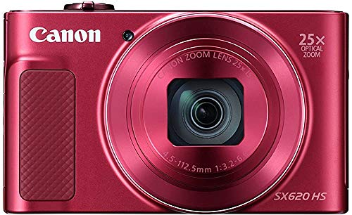 Canon PowerShot SX620 Digital Camera w/25x Optical Zoom - Wi-Fi & NFC Enabled (Red) (Renewed)