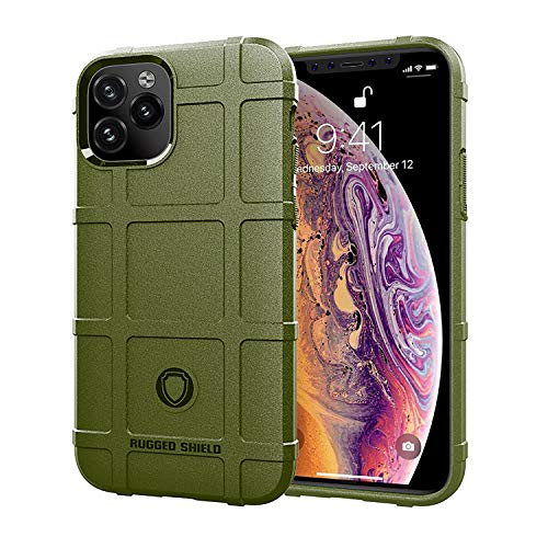 niter for iPhone 11 Pro Max Case Green Ultra Thin Slim Rubber Gel Soft TPU Thick Shield Solid Armor Tactical Cover (iPhone 11 Pro Max, Green)