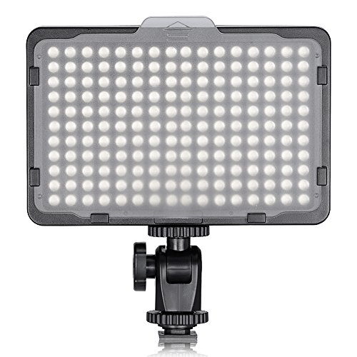 Neewer on Camera Video Light Photo Dimmable 176 LED Panel with 1/4' Thread for Canon, Nikon, Sony and Other DSLR Cameras, 5600K (Battery Not Included)
