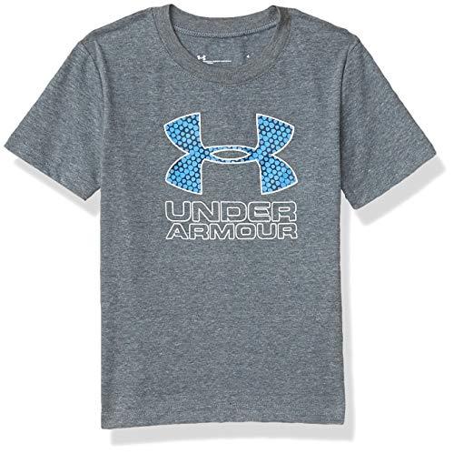 Under Armour Boys' Little UA DIVERGE Multi Big Logo SS, Pitch Gray, 4