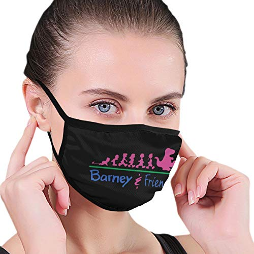 Barney and Friends Unisex Outdoor Face Mask Funny Face Shield Suitble for Work Black
