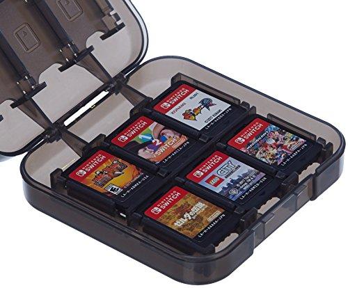 AmazonBasics Game Storage Case for 24 Nintendo Switch Games - 3.4 x 3.4 x 1 Inches, Black
