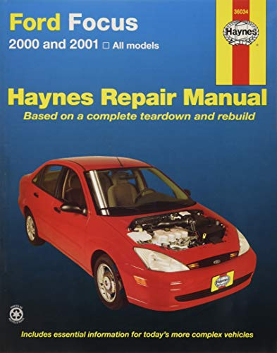 Repair Manual; Ford/ Mercury; Focus 2000 Thru 2007; English; Paper Format