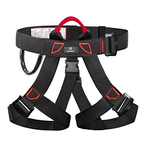 GABBRO Climbing Harness, CE Certified Thickened Wider Safety Harness to Protect Waist, Safety Gear Climbing Rope for Fall Protection, Harness for Work at Height Fire Rescuing (Harness)