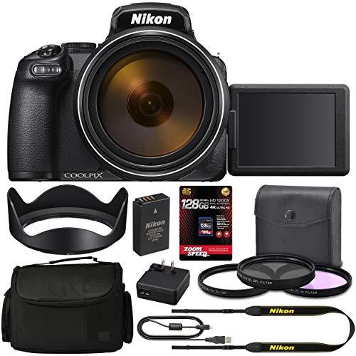 Nikon COOLPIX P1000 Digital Camera 26522 + 128GB 4K AOM Pro Kit: International Version