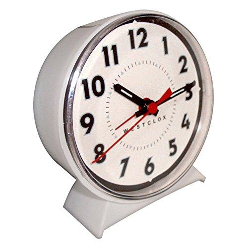 Nyl Holdings Westclox Keywound White Alarm Clock