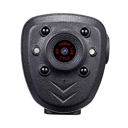 TANSTAN Mini HD HD1080P camera recorder, wearable built-in infrared night vision camera, built-in 16GB memory card, night vision, video recording, 4-6 hours battery life, suitable for law enforcement