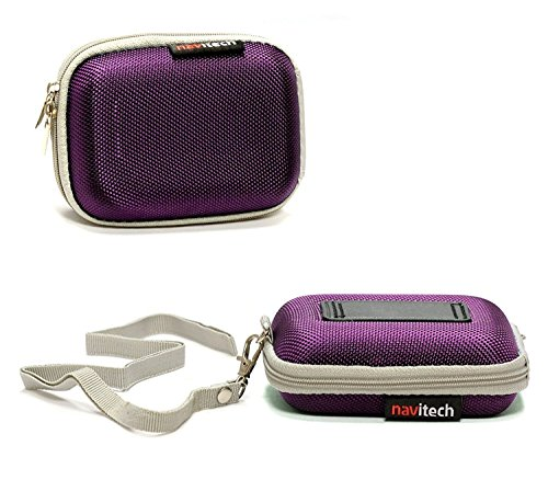 Navitech Purple Water Resistant Hard Wireless Earphone Case Cover Compatible with The APIE Bluetooth Wireless Headset Ear Hooks Earphones Noise Cancelling in-Ear Earbuds