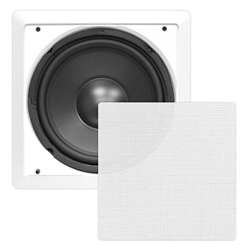 Ceiling Wall Mount Enclosed Speaker - 360 Watt Stereo In-wall / In-ceiling 10' Enclosed Full Range Subwoofer Speaker System - 40Hz-3kHz Frequency Response, 8 Ohm, Flush Mount - Pyle PDIWS10 (White)