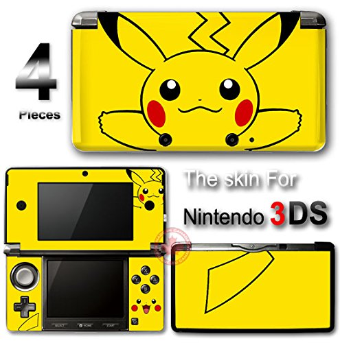 Pokemon Pikachu Cute SKIN VINYL DECAL STICKER COVER NEW #2 for Nintendo 3DS