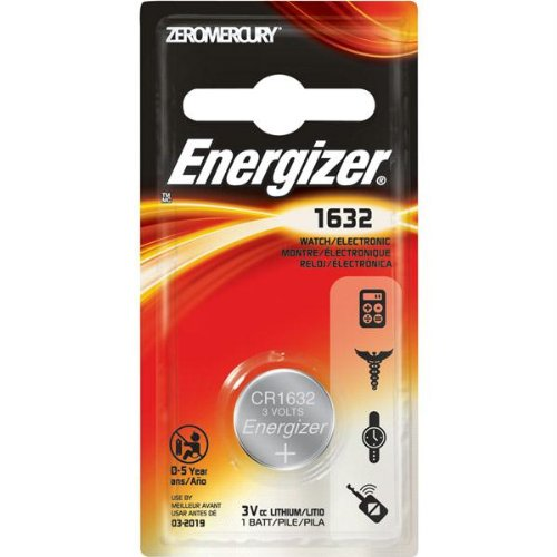 ENERGIZER ECR1632BP / 1 Pk, 3V, Watch/Electronic Battery