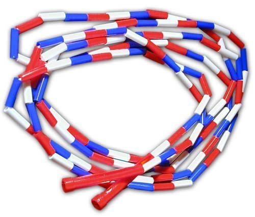 Cannon Sports Olympic Style Jump Rope, 16 feet, Red/White/Blue