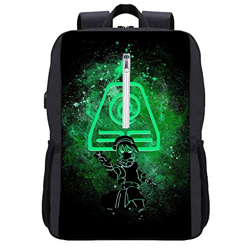 Avatar The Last Airbender Toph Art Earth Symbol Backpack Daypack Bookbag Laptop School Bag with USB Charging Port