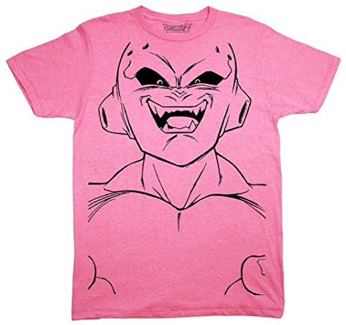 Dragon Ball Z Majin Buu Kid Buu Large Face Line Art Adult T-Shirt (small)