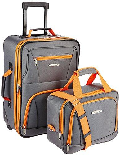 Rockland Fashion Softside Upright Luggage Set, Charcoal, 2-Piece (14/20)