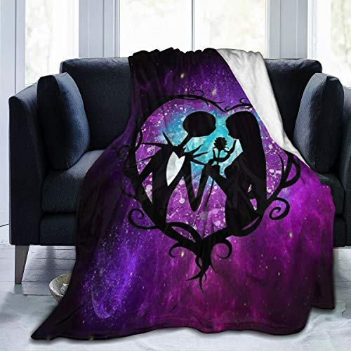 Kechun The Nightmare Before Christmas Swaddle Blanket Ultra Soft Throw Blanket Flannel Fleece,Soft Fuzzy Blankets Plush Sheet, All Season Flannel Holiday Blanket for Baby Bed Couch Living Room