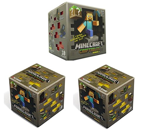 Official Minecraft Craftables Series 1 Figure 3-Pack Set Blind Pack '3 Random Styles'