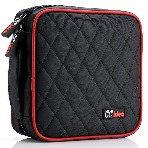 CCidea 40 Capacity CD/DVD Case Holder Portable Disc Wallet Storage Binder Nylon Cd Bag (Black) Specials