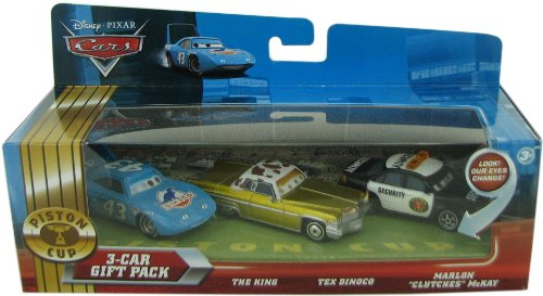 Disney / Pixar CARS Movie 155 Die Cast Cars 3Car Gift Pack The King, Tex Dinoco Marlon Clutches McKay Lenticular Eyes!