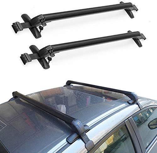 Facaimo Aluminum Car Top Luggage Roof Rack Cross Bar Carrier Adjustable Window Frame USA 43'(110CM)