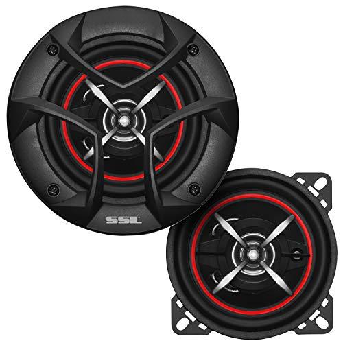 Sound Storm Laboratories CG443 4 Inch Car Speakers - 200 Watts of Power Per Pair, 100 Watts Each, Full Range, 3 Way, Sold in Pairs